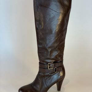 Coach brown calf boots.